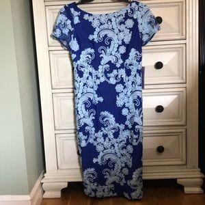 JS Collections Soutache Cocktail Blue Dress Size 8